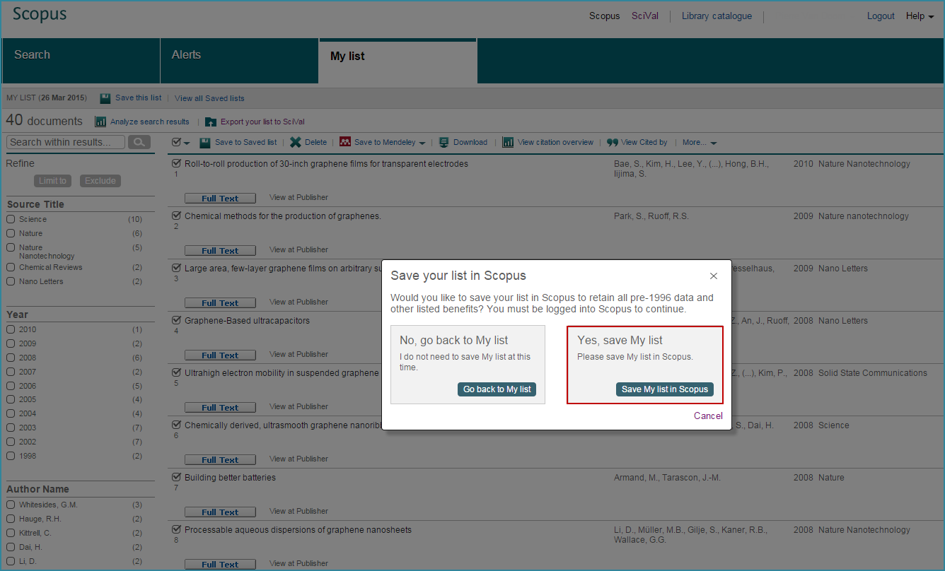 Save your list in Scopus png | Elsevier Scopus Blog