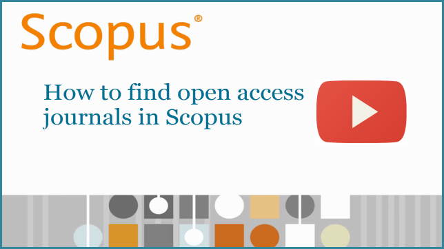 Scopus to launch Open Access indicator for journals on July 29 | Elsevier Scopus Blog