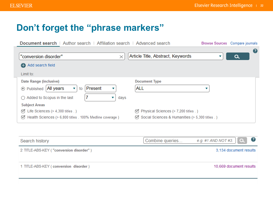 6 simple search tips: Lessons learned from the Scopus