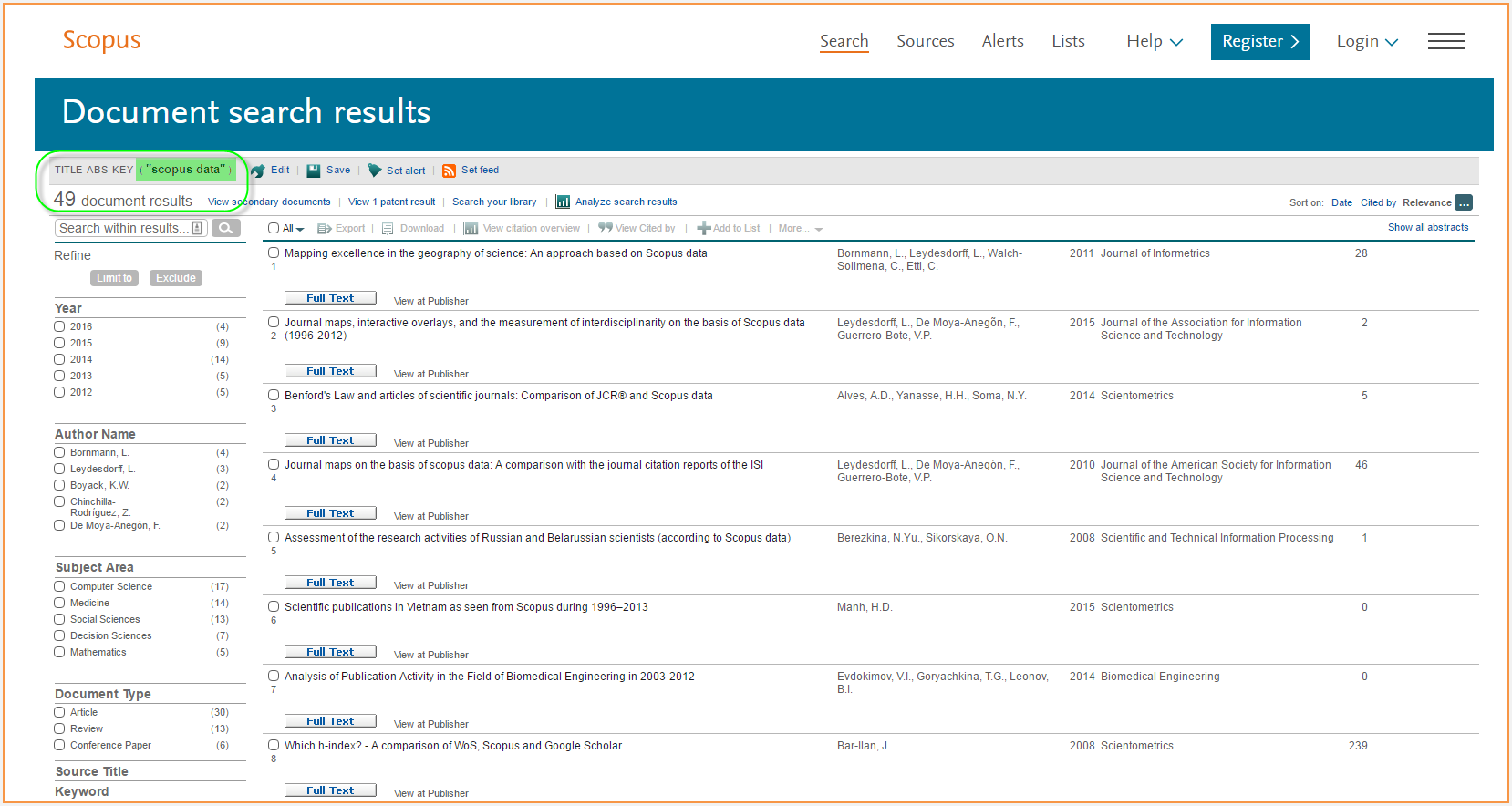 Accelerate academic research using Scopus APIs | Elsevier