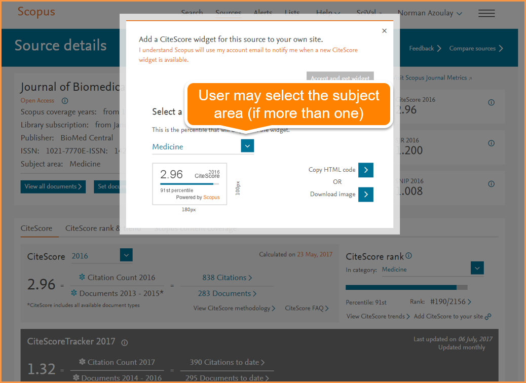 What's new on Scopus: PlumX Metrics, changes to Citation Overview