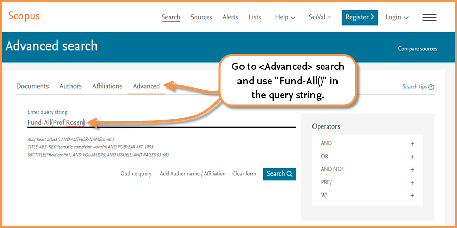 New on Scopus: Link to datasets, search funding