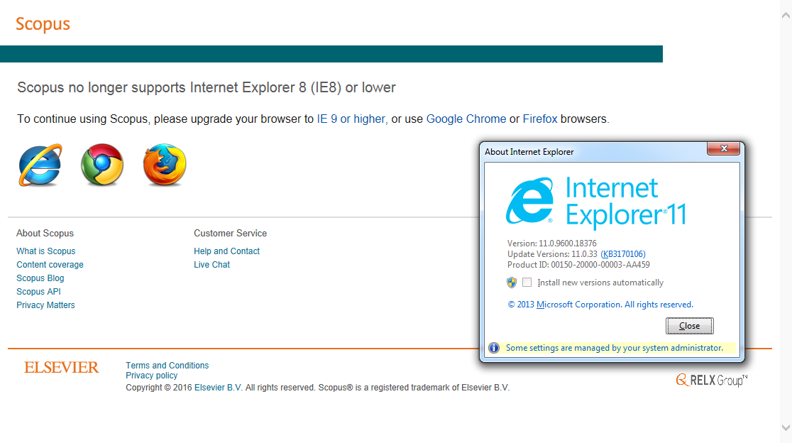 Pages not updating internet explorer