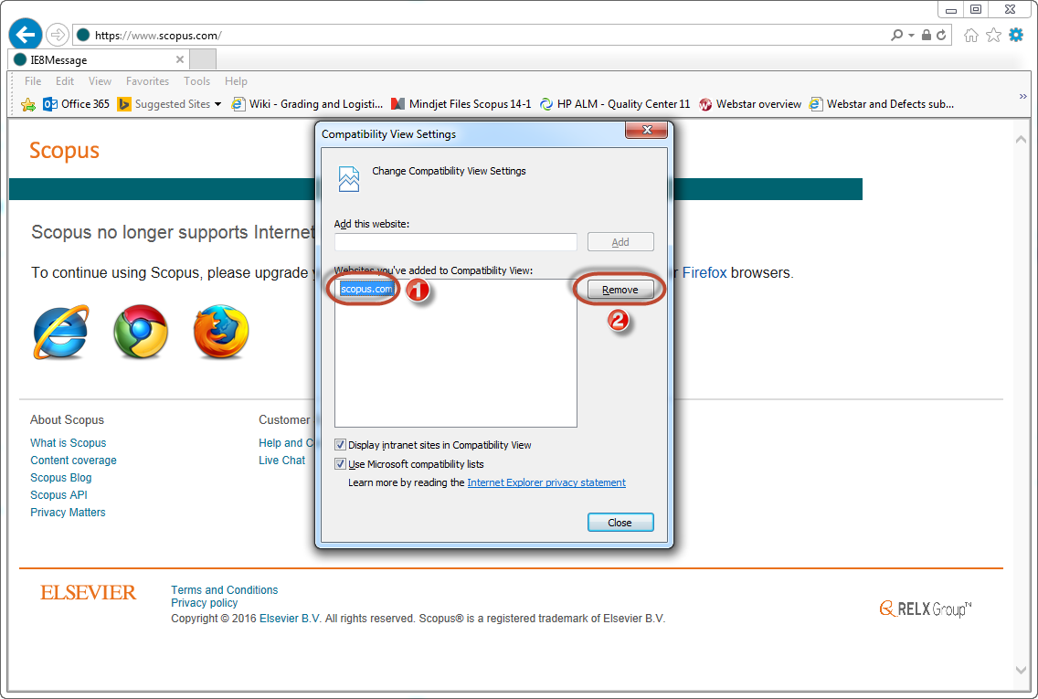 How to resolve Internet Explorer 11 (IE11) compatibility