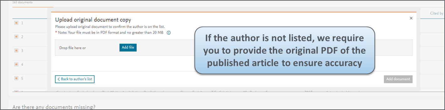 An improved way to check your Scopus Author Profile!   Elsevier