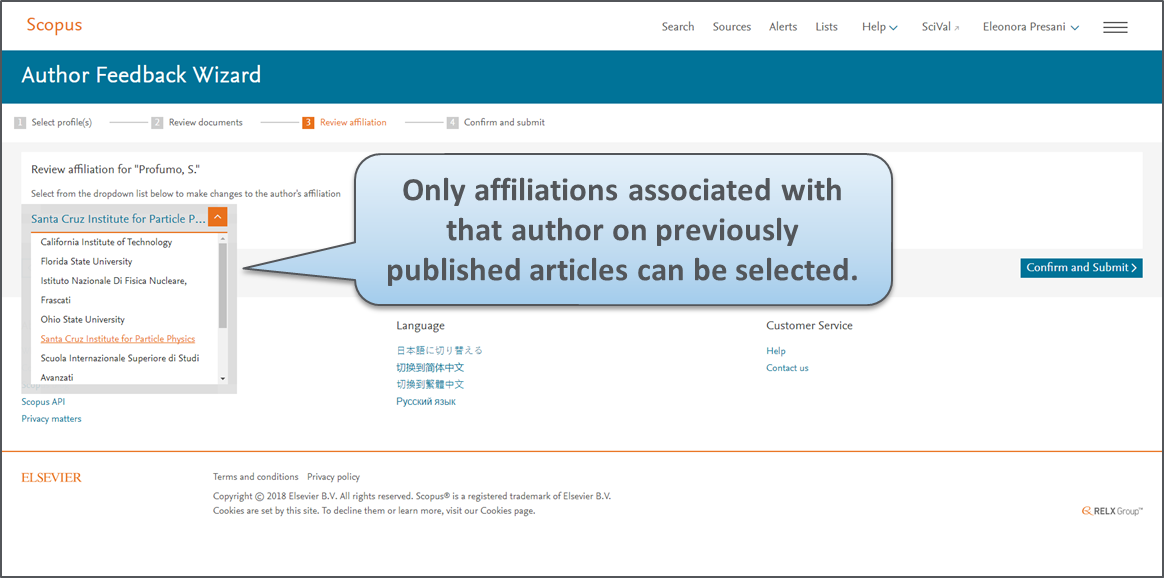 An improved way to check your Scopus Author Profile