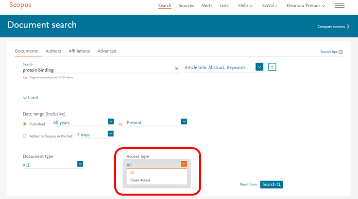 What's new on Scopus: Article Level Open Access Indicator