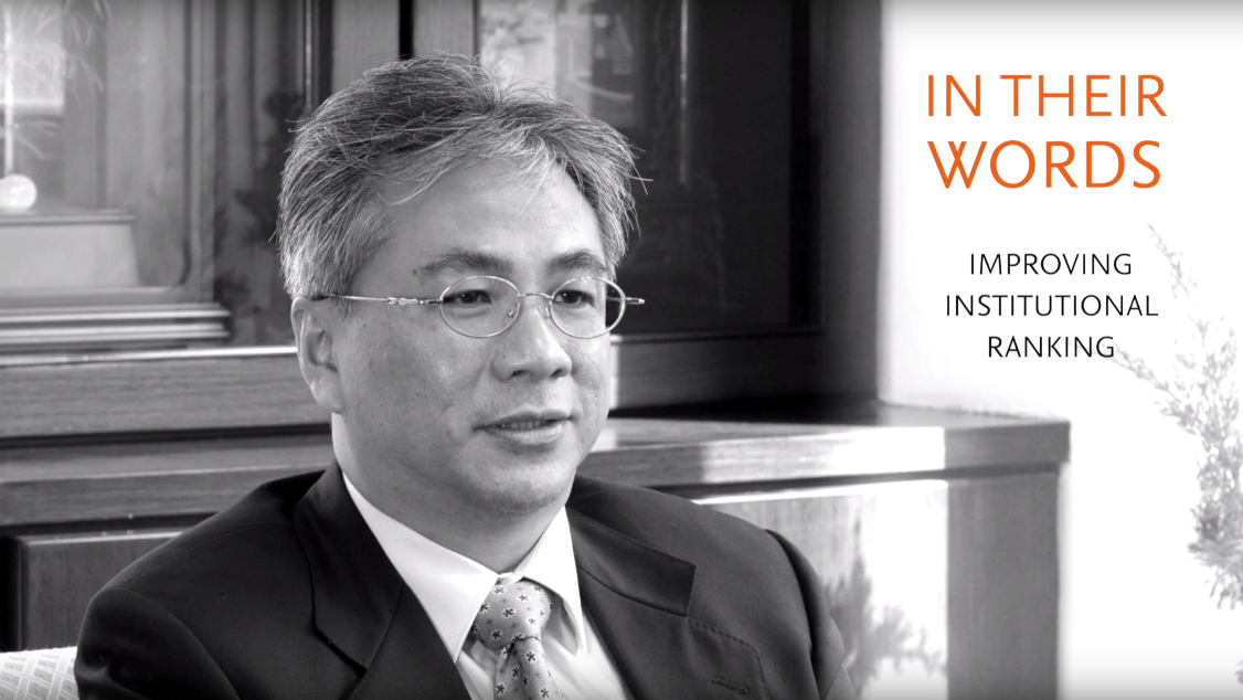Chaoyang University of Technology's President, Tao-ming Cheng, shares how his university is using SciVal and Scopus to improve its institutional rankings.
